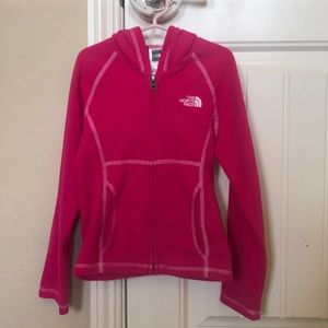 North Face girls zip up